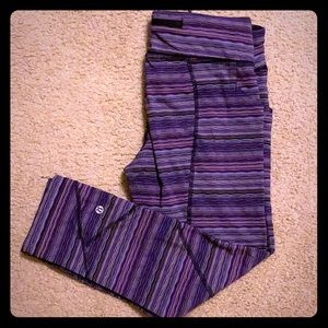 Purple Space-Dye Lululemon Crop sz8